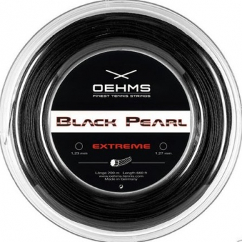 Oehms Black Pearl Rough Extreme 1.23mm Saitenset 12,2m schwarz