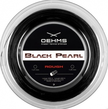 Oehms Black Pearl Rough 1.25mm Saitenset 12,2m schwarz