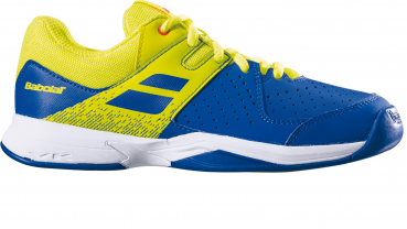 Babolat Kinder Tennisschuhe Pulsion JR blau-gelb Indoor Teppich Carpet