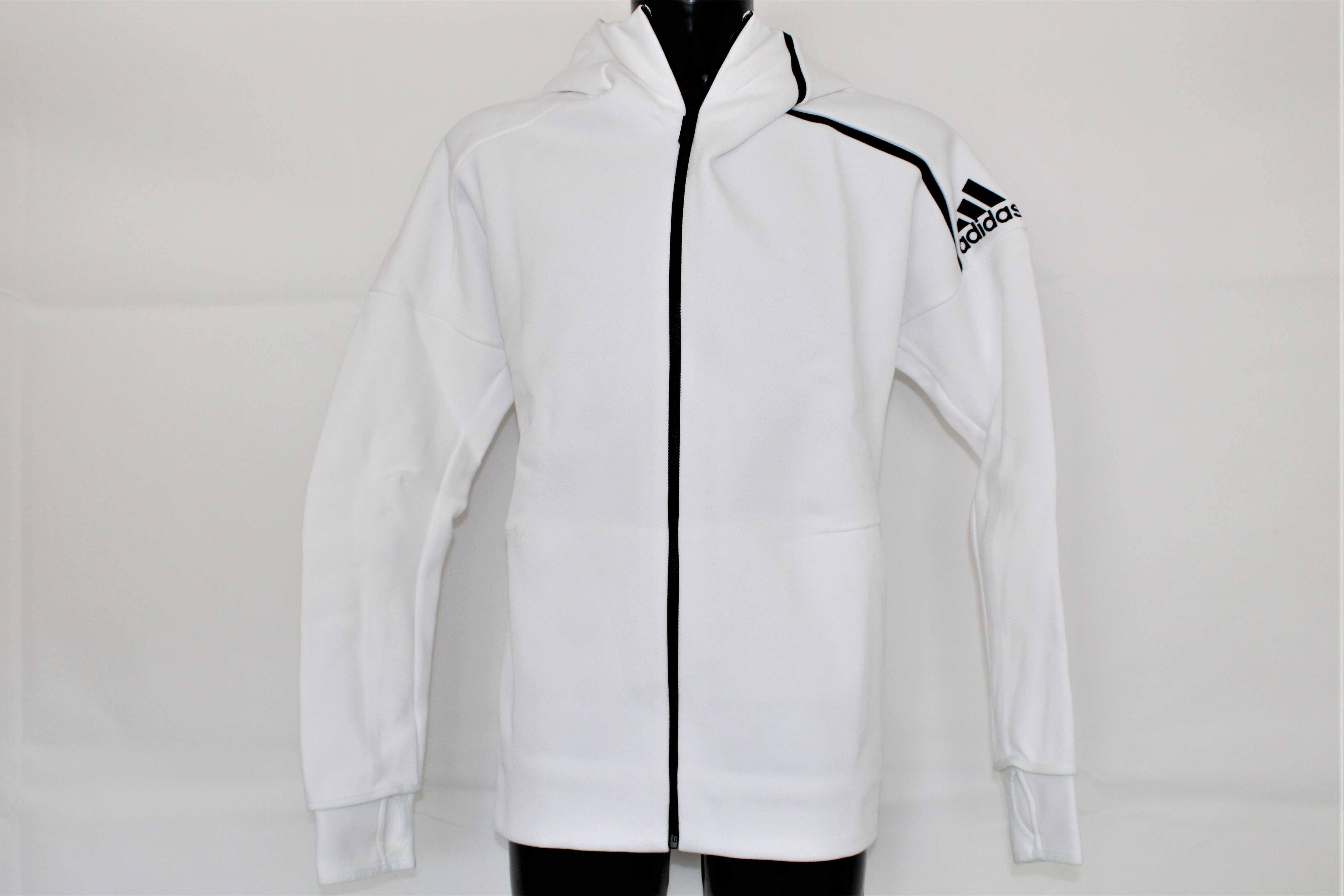 Adidas Herren Z.N.E. Hoody Zip Jacke weiss schwarz