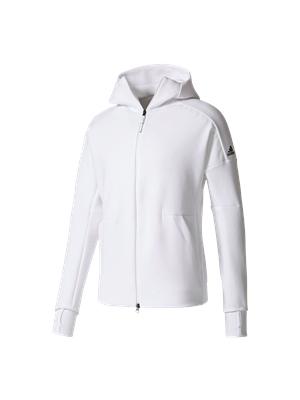 Adidas Herren Z.N.E. Hoody Zip Jacke weiß 2018