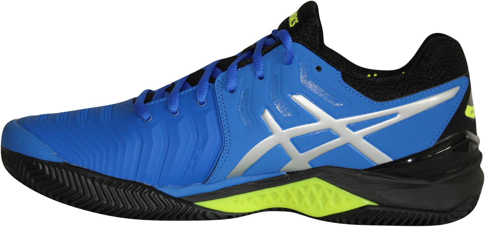Asics Gel Resolution 7 Clay blaugelb Tennisschuhe Herren