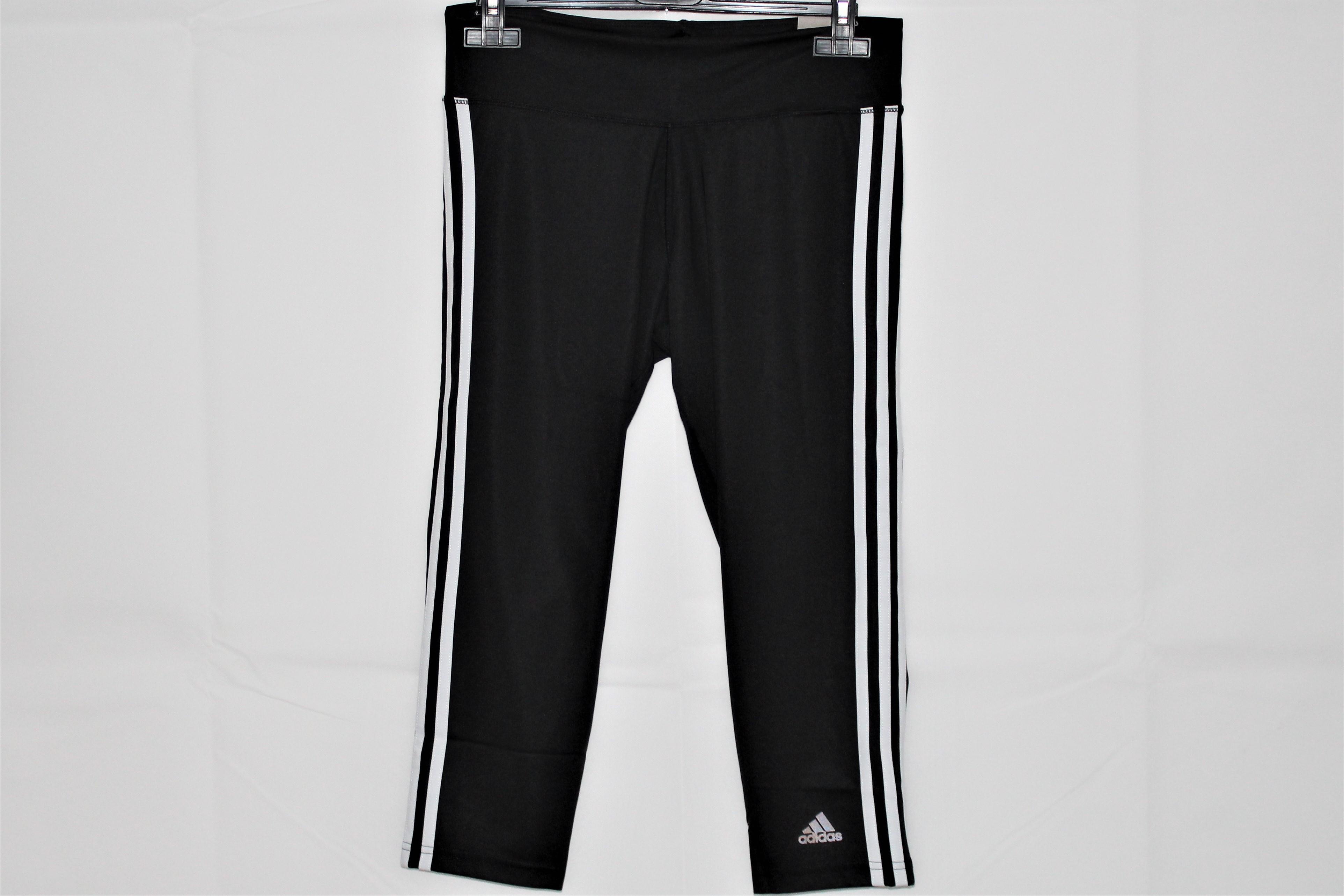 Adidas Damen D2M Trainingshose 3/4 Leggins schwarz-weiß