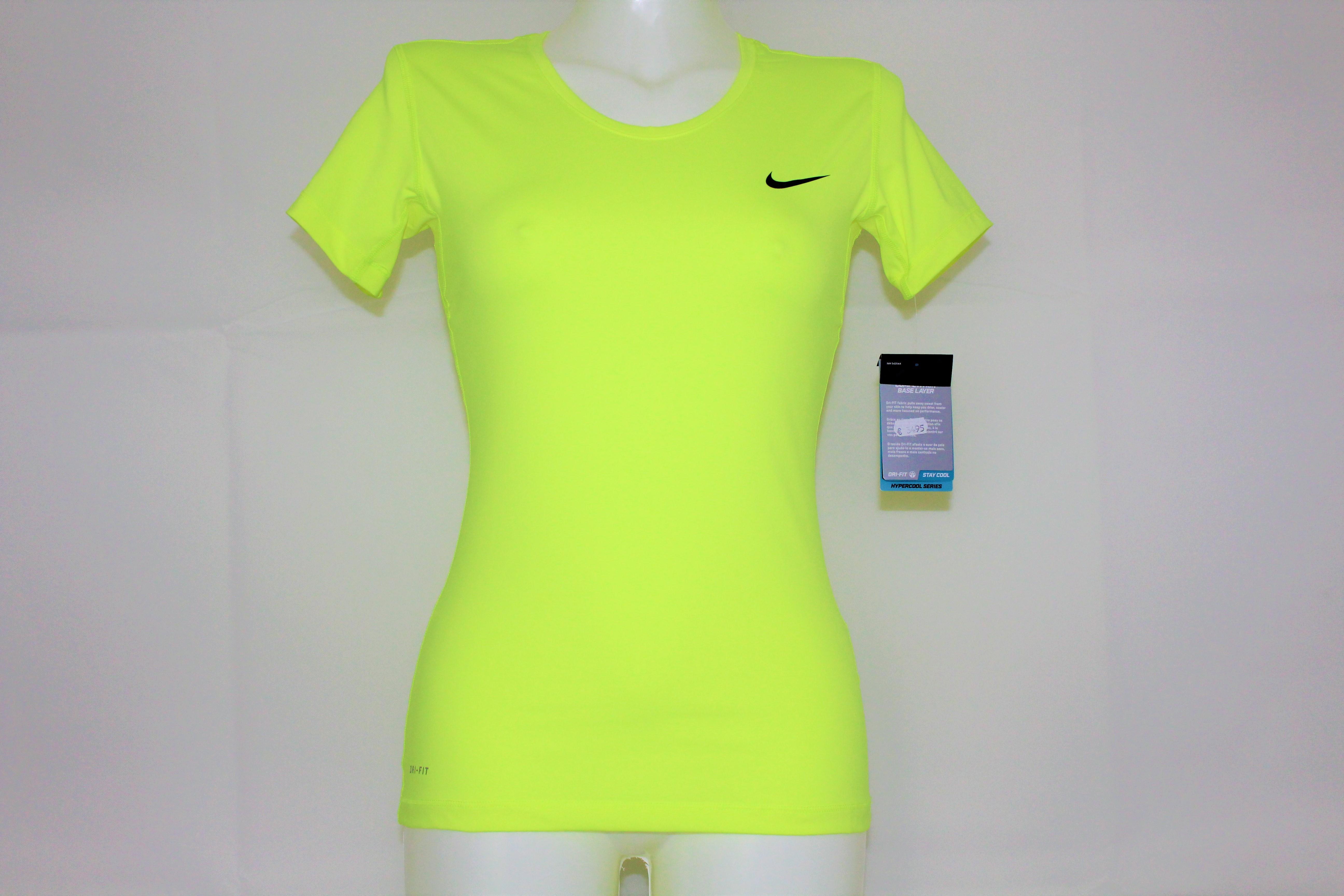 Nike Damen Tennis Court Pro Shirt neongelb