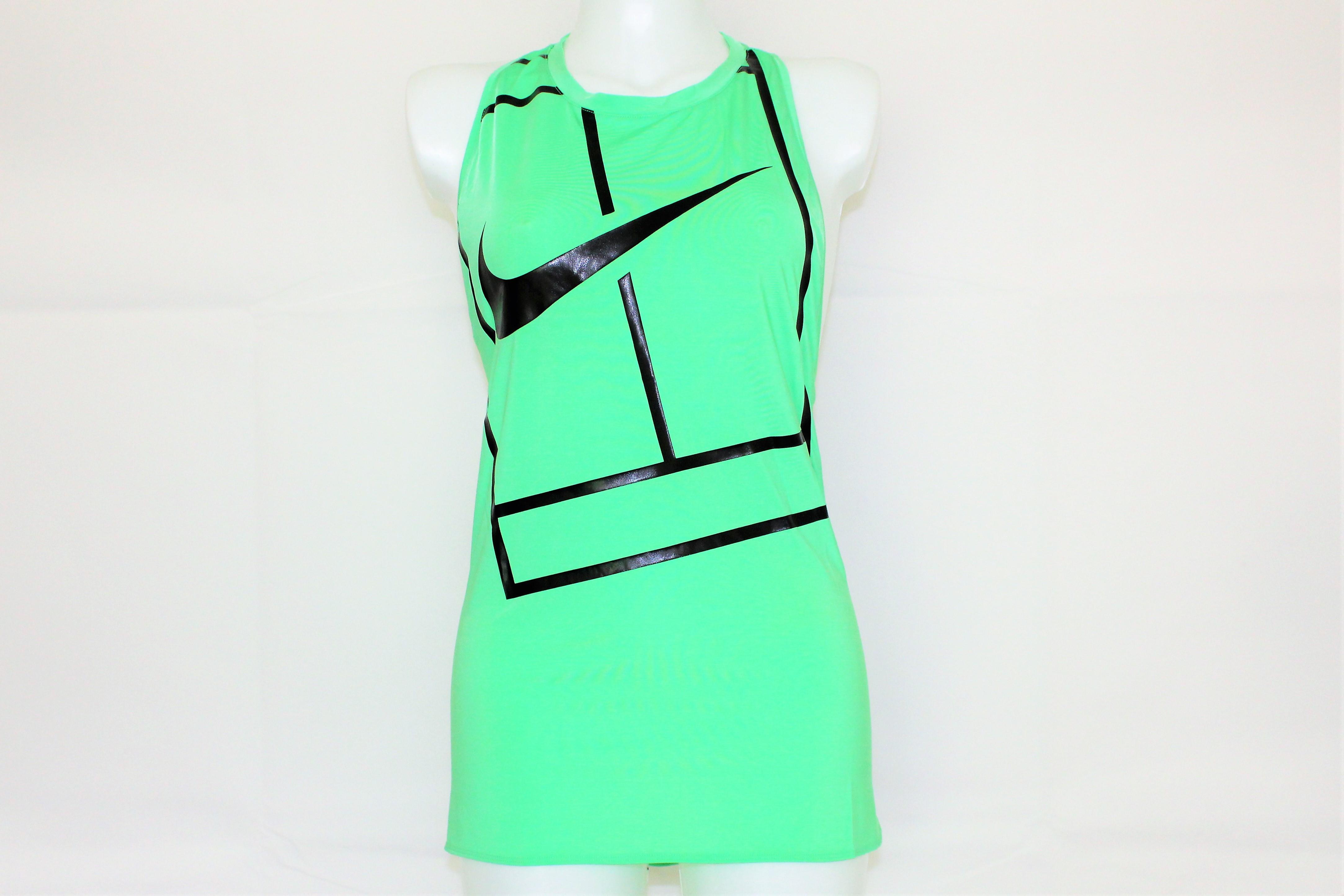 hot sale online 7d8f7 6a01c Nike Damen Tennis Tank Top Court Logo gruen-schwarz Gr. XL