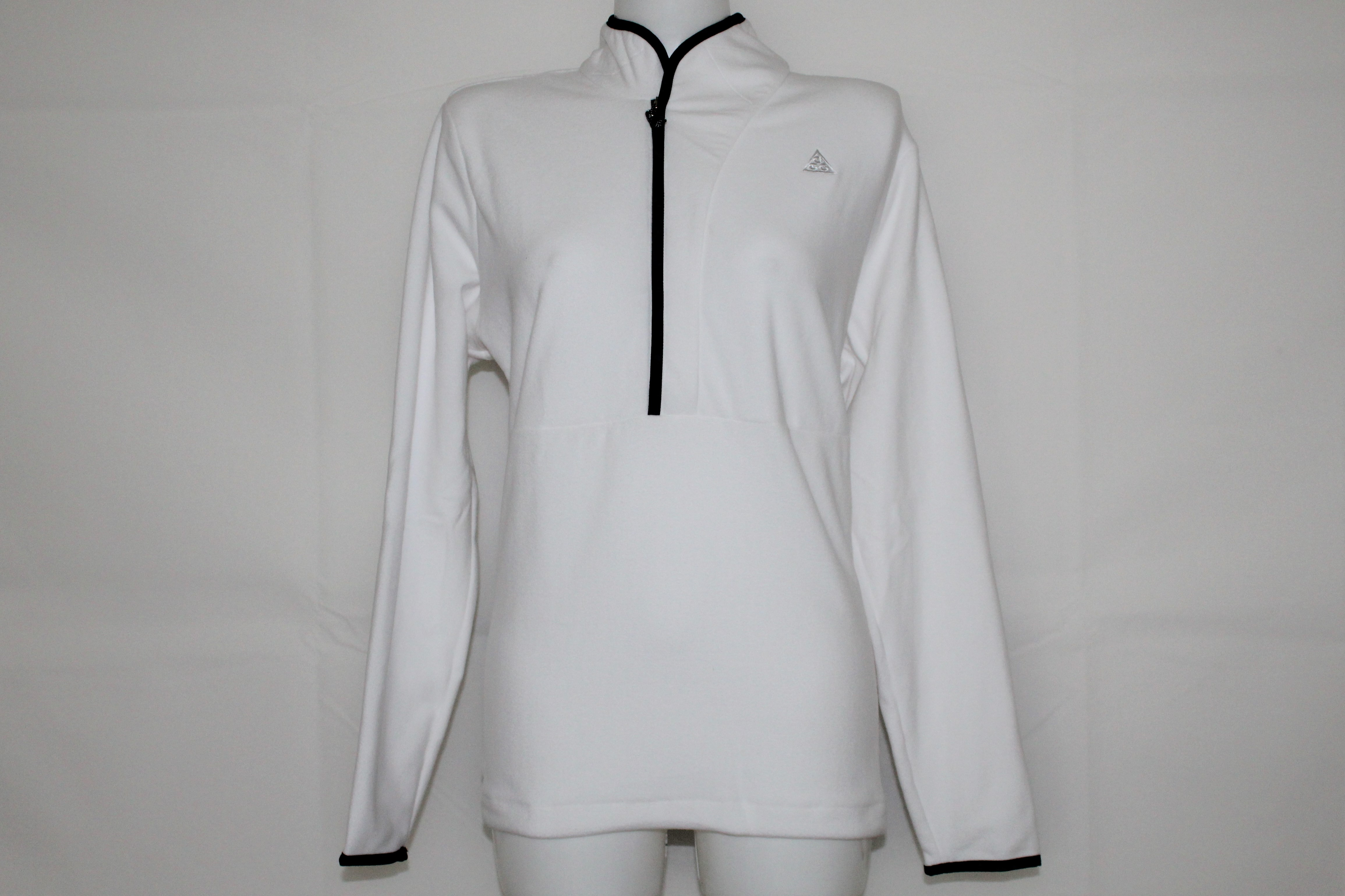order online shop how to buy Nike Damen ACG Fleece Sweater weiß-schwarz Gr. XL